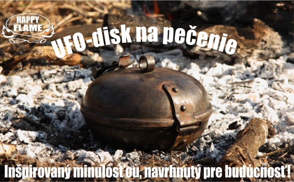 UFO disk na pečenie je geniálny nástroj s veľmi jednoduchou konštrukciou. UFO Disk tvoria dve oceľové polguľovité misky spojené pántom a uzamykacím mechanizmom.